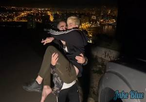 Blond Twink is Letf to Fuck no the Mountain with a Cumshot in the Car