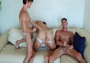 NEW Threesome video! with Reno Gold, Peachy Boy and Handsome Buck